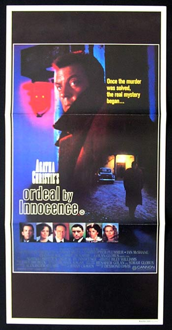 ORDEAL BY INNOCENCE Original Daybill Movie Poster Donald Sutherland Agatha Christie Faye Dunaway