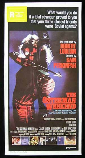 THE OSTERMAN WEEKEND '83-Peckinpah RARE poster