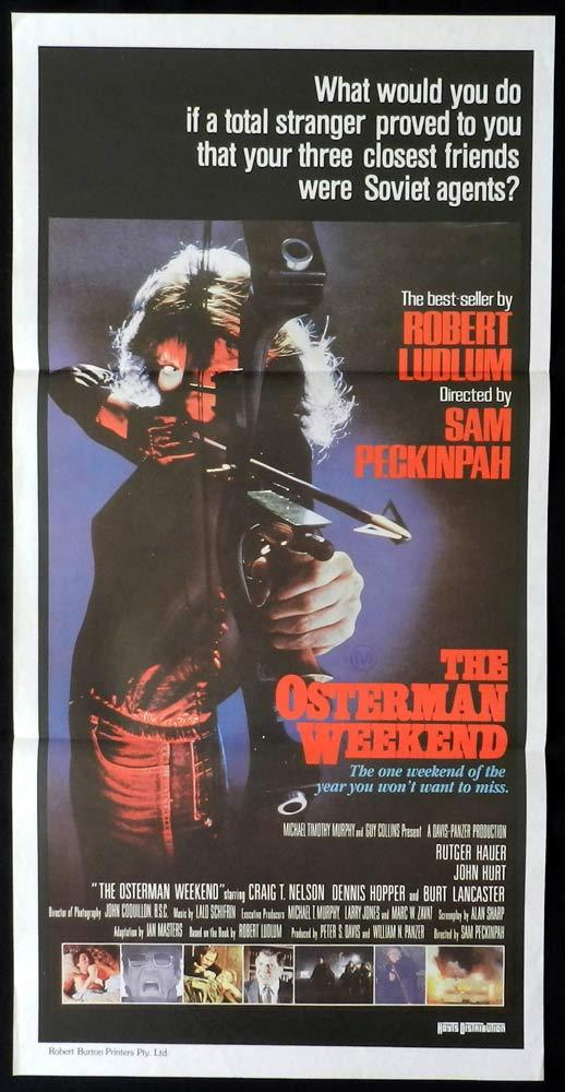 THE OSTERMAN WEEKEND Original Daybill Movie poster Rutger Hauer John Hurt