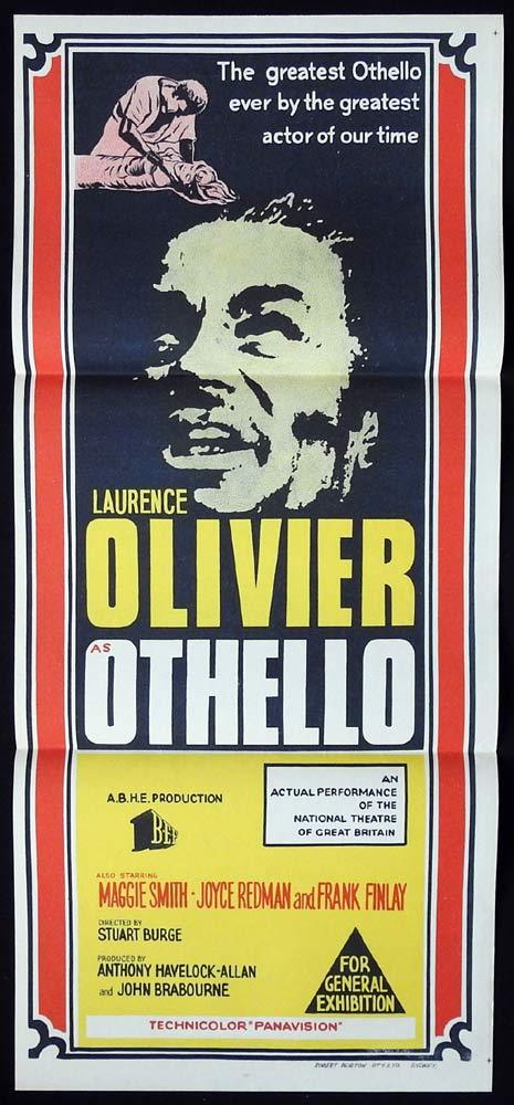OTHELLO Daybill Movie poster Laurence Olivier Maggie Smith