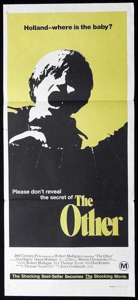 THE OTHER Original Daybill Movie Poster Uta Hagen Diana Muldaur