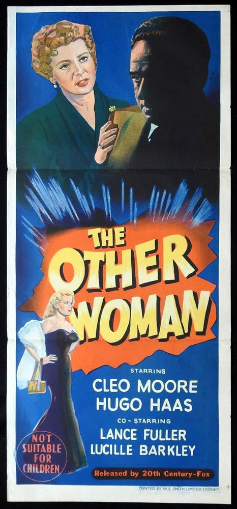 THE OTHER WOMAN Original Daybill Movie poster Hugo Haas film noir