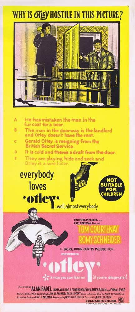 OTLEY Original Daybill Movie Poster Tom Courtenay