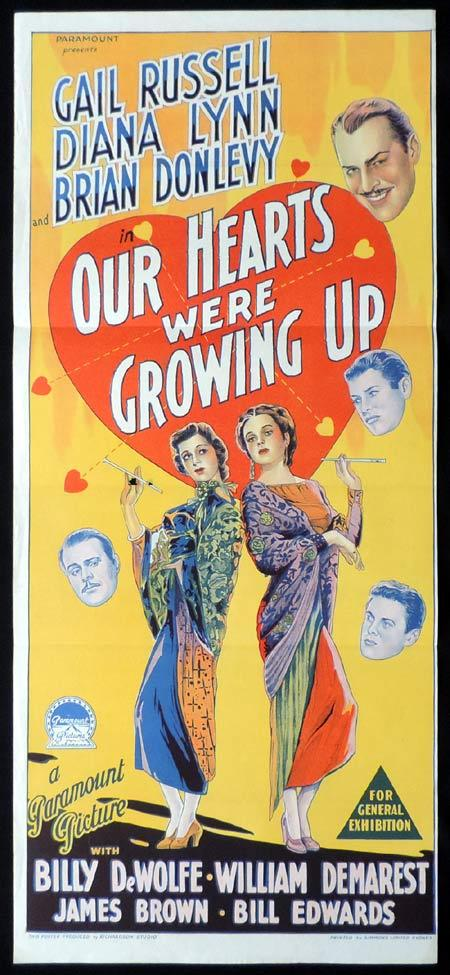OUR HEARTS WERE GROWING UP Original Daybill Movie Poster Gail Russell Richardson Studio