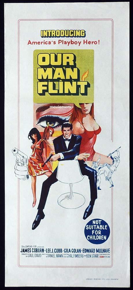 OUR MAN FLINT Original Daybill Movie Poster James Coburn Gila Golan