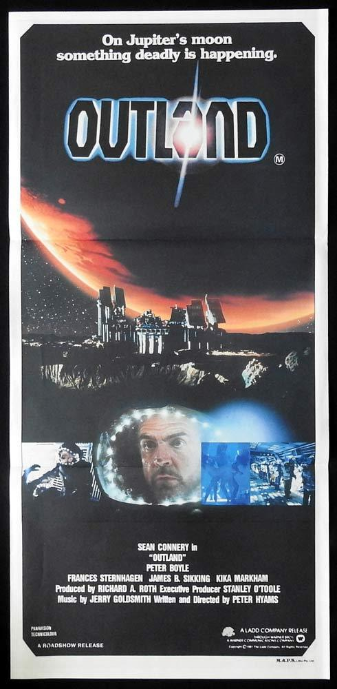 OUTLAND daybill Movie Poster Sean Connery Peter Boyle