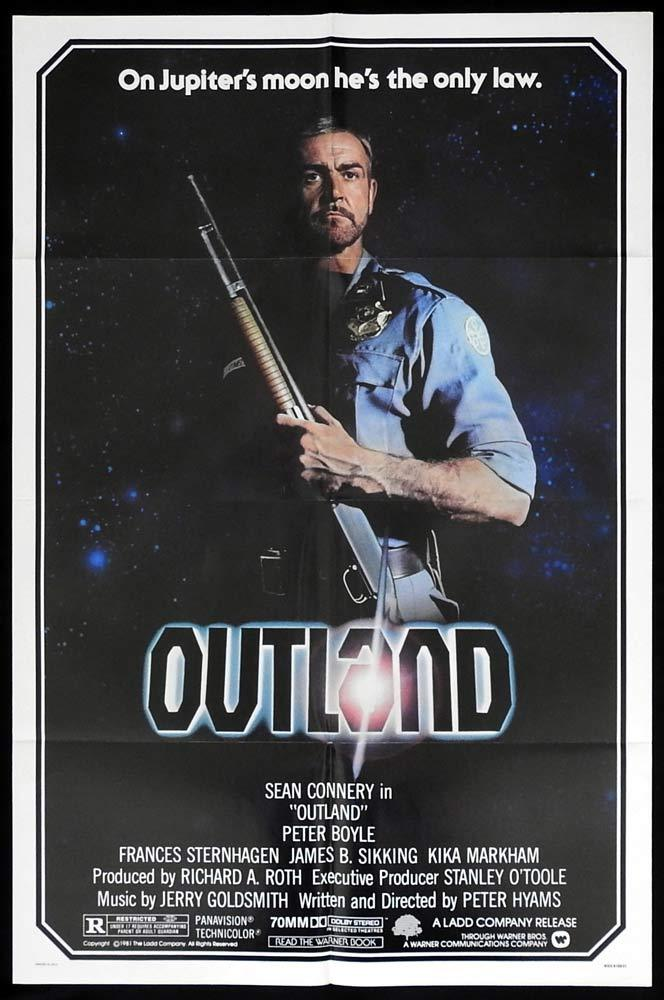 OUTLAND Original US One sheet Movie poster Sean Connery Peter Boyle