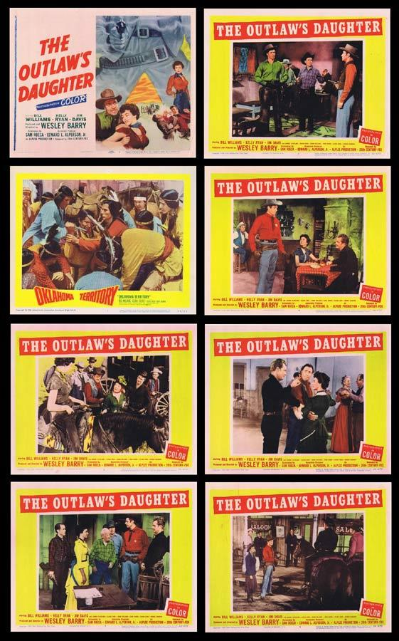 THE OUTLAW'S DAUGHTER Lobby Card Set Bill Williams Western