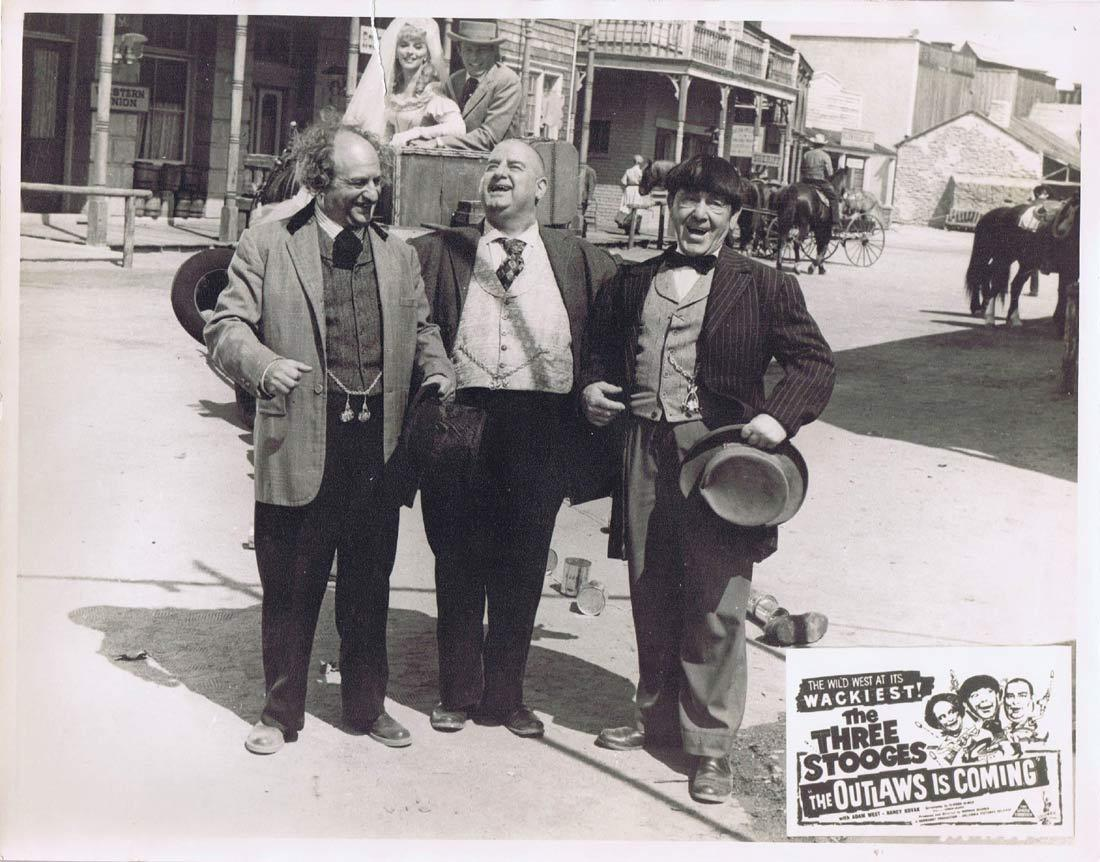 THE OUTLAWS IS COMING Australian Lobby Card 2 The Three Stooges