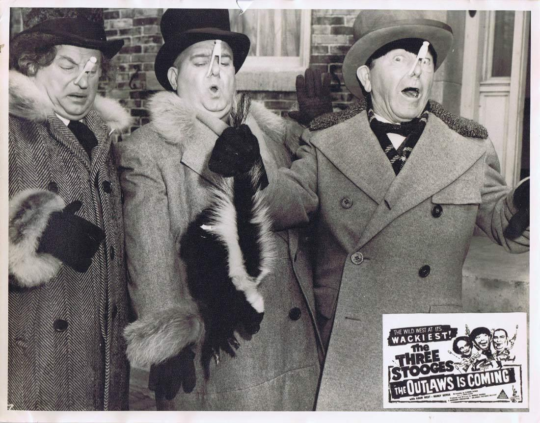 THE OUTLAWS IS COMING Australian Lobby Card 4 The Three Stooges