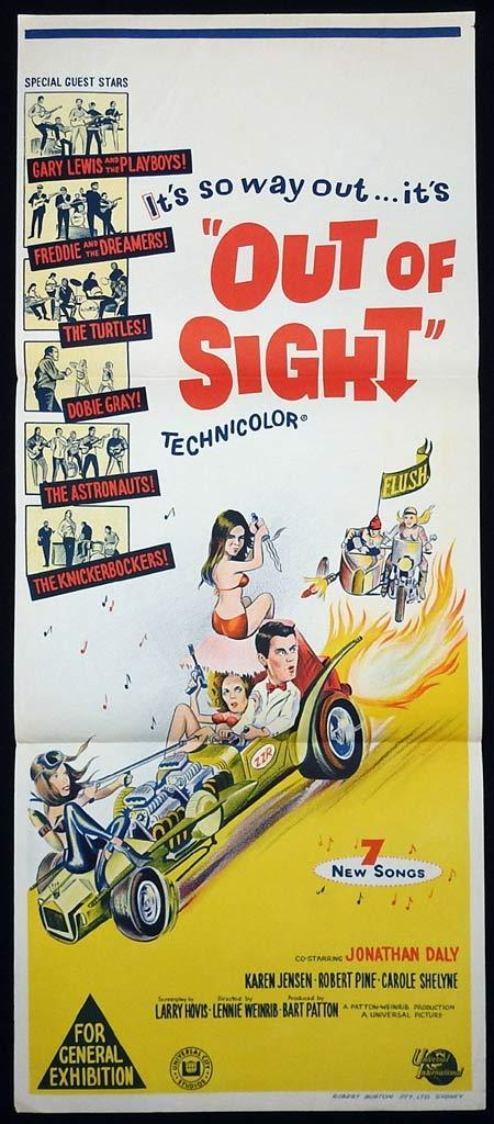 OUT OF SIGHT Original Daybill Movie poster Freddie and the Dreamers