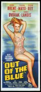 OUT OF THE BLUE Original Daybill Movie Poster Virginia Mayo Carole Landis