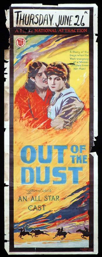 OUT OF THE DUST Long Daybill Movie poster 1920 Silent Cinema