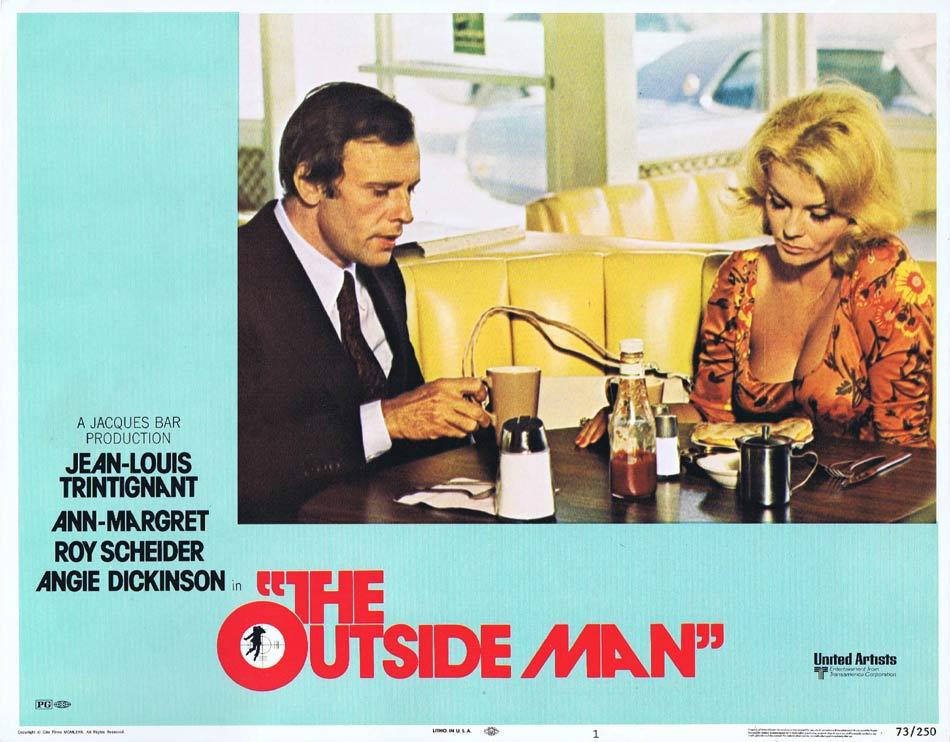 THE OUTSIDE MAN Lobby Card 1 Jean-Louis Trintignant Ann-Margret Roy Scheider