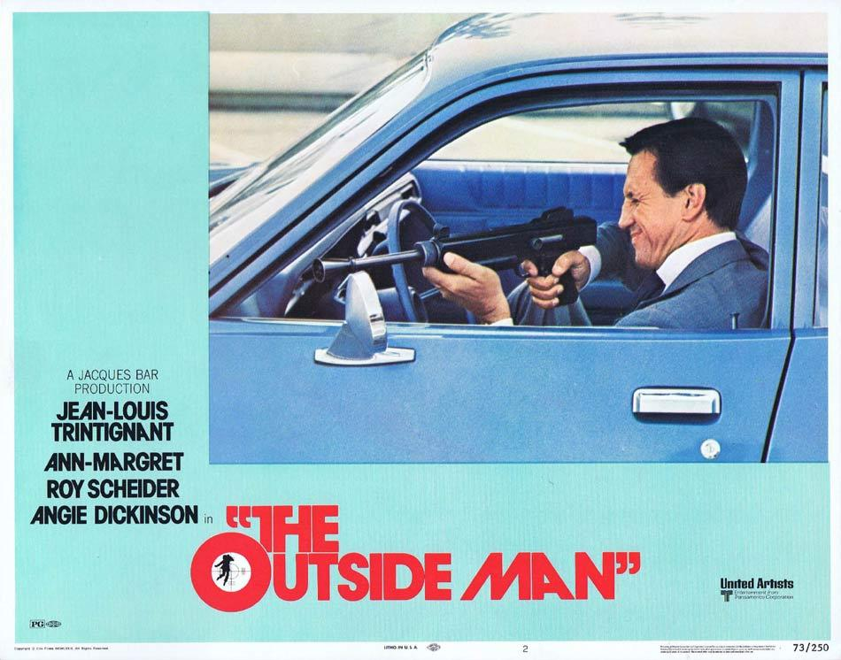 THE OUTSIDE MAN Lobby Card 2 Jean-Louis Trintignant Ann-Margret Roy Scheider