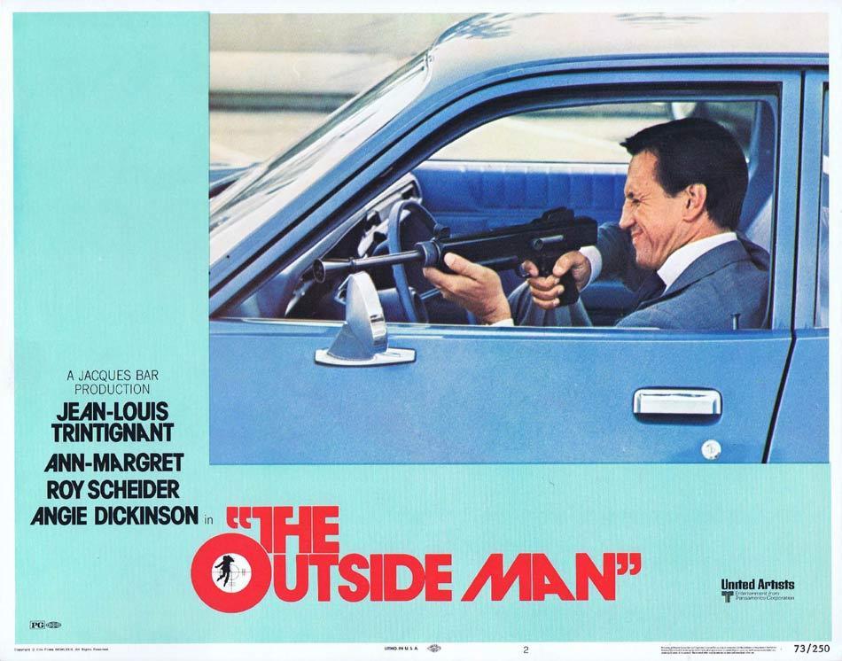 THE OUTSIDE MAN Lobby Card 2 Jean-Louis Trintignant Ann-Margret Roy Scheider
