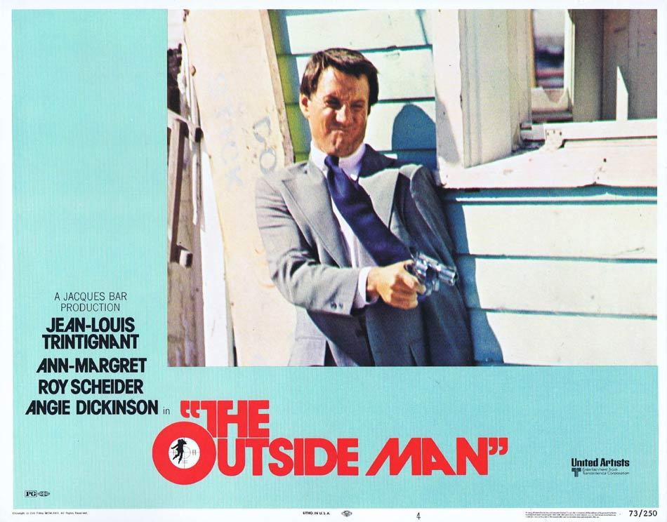 THE OUTSIDE MAN Lobby Card 4 Jean-Louis Trintignant Ann-Margret Roy Scheider