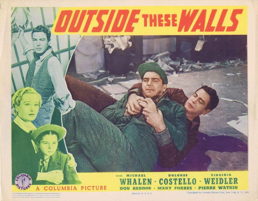 OUTSIDE THESE WALLS Lobby Card Michael Whalen Dolores Costello,