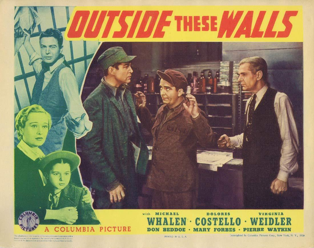 OUTSIDE THESE WALLS Original Lobby Card 4 Michael Whalen Dolores Costello Virginia Weidler