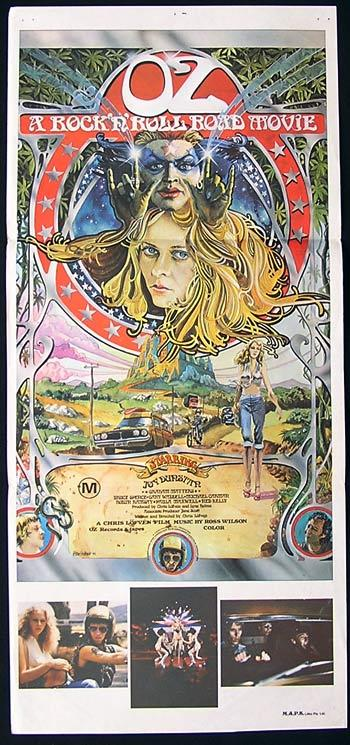 OZ: A ROCK AND ROLL ROAD MOVIE Original daybill Movie poster Peter Ledger Art