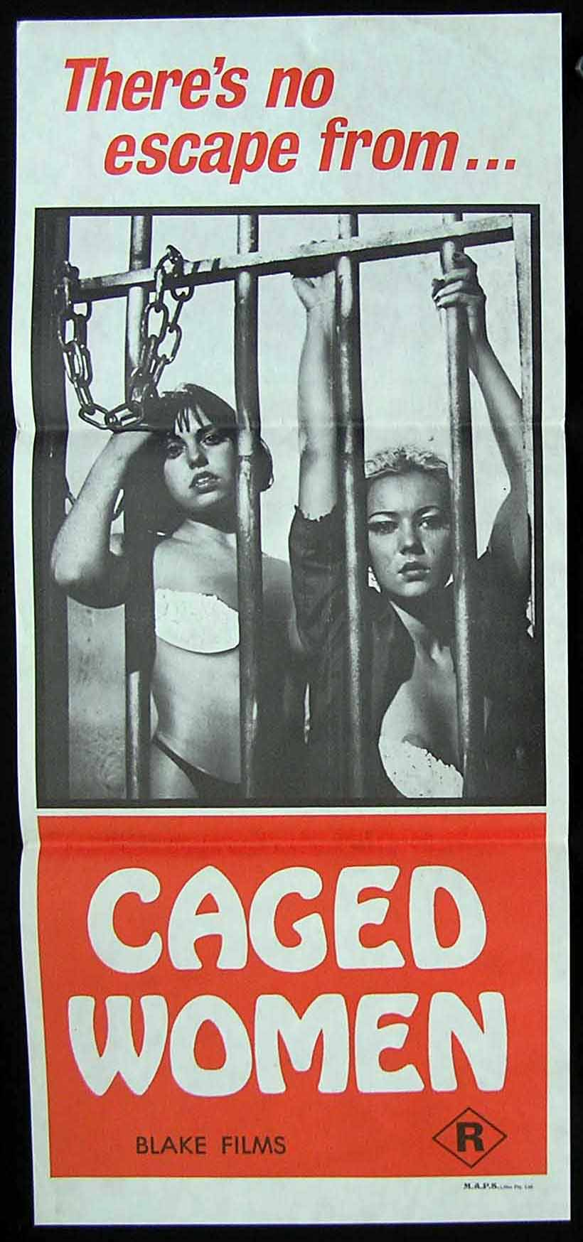 CAGED WOMEN Daybill Movie Poster JESUS FRANCO Barbed Wire Dolls