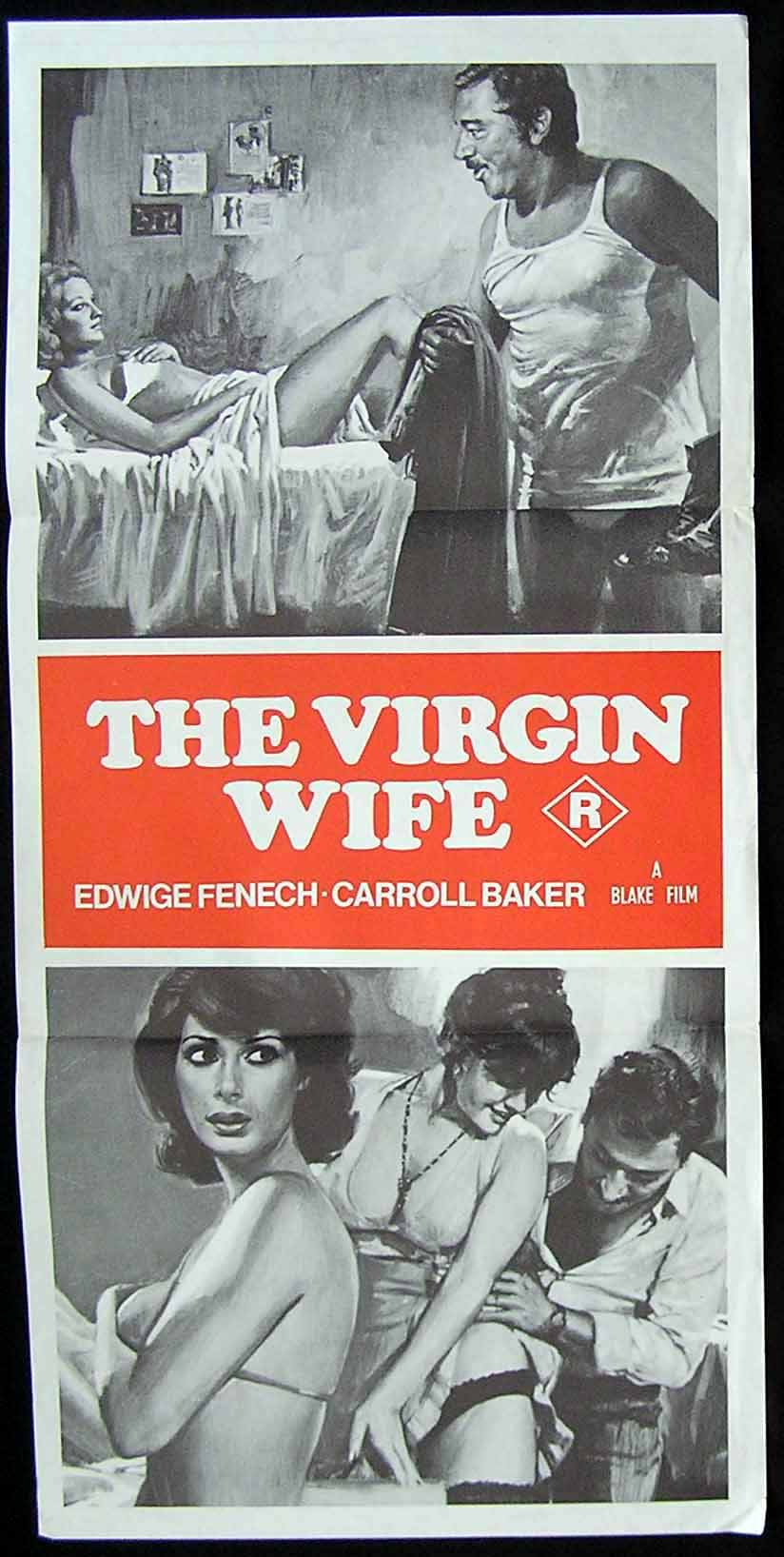 THE VIRGIN WIFE '75-Carroll Baker-Sexploitation Movie Poster