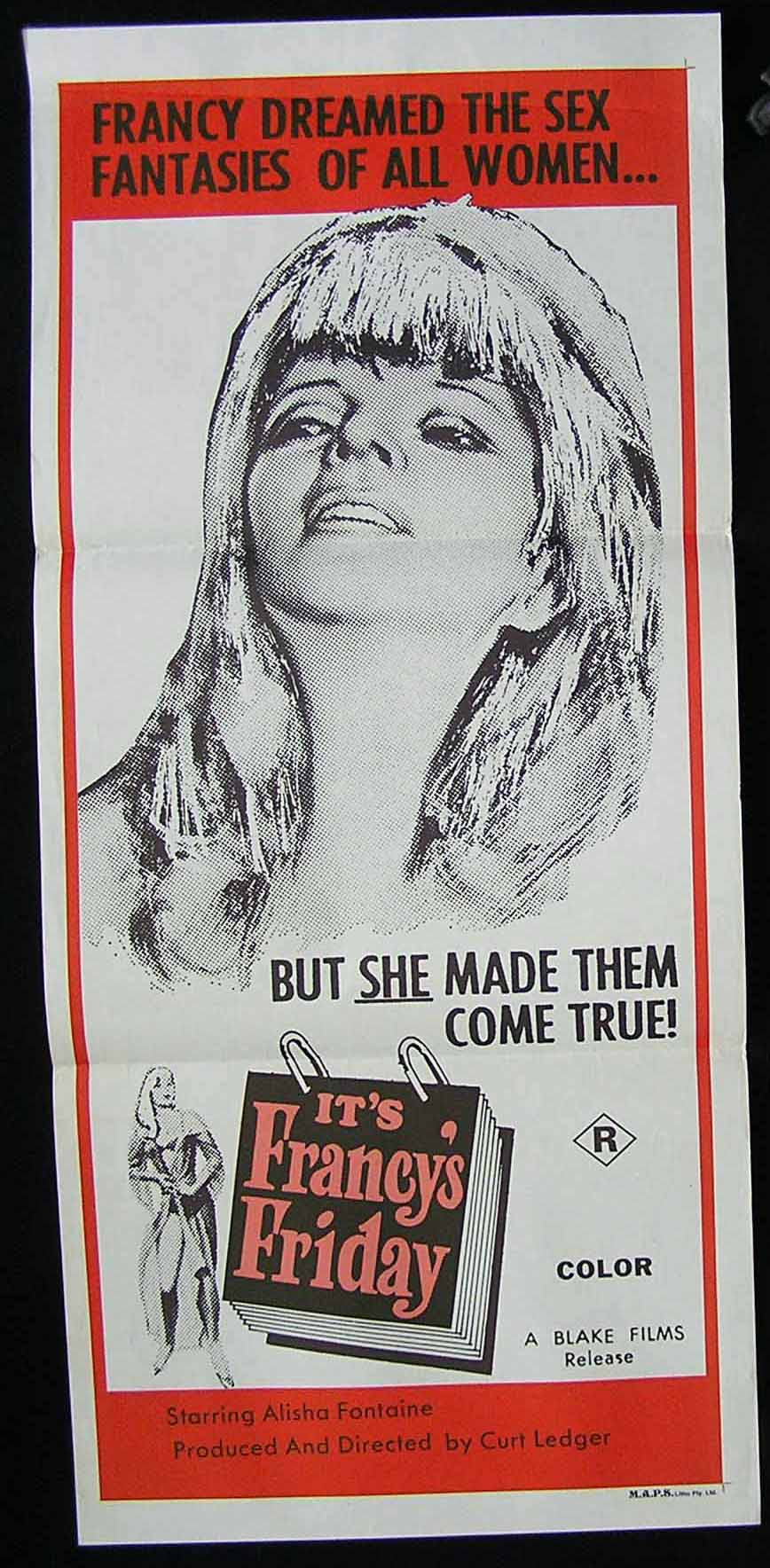 IT'S FRANCY'S FRIDAY '70s Sexploitation Movie Poster