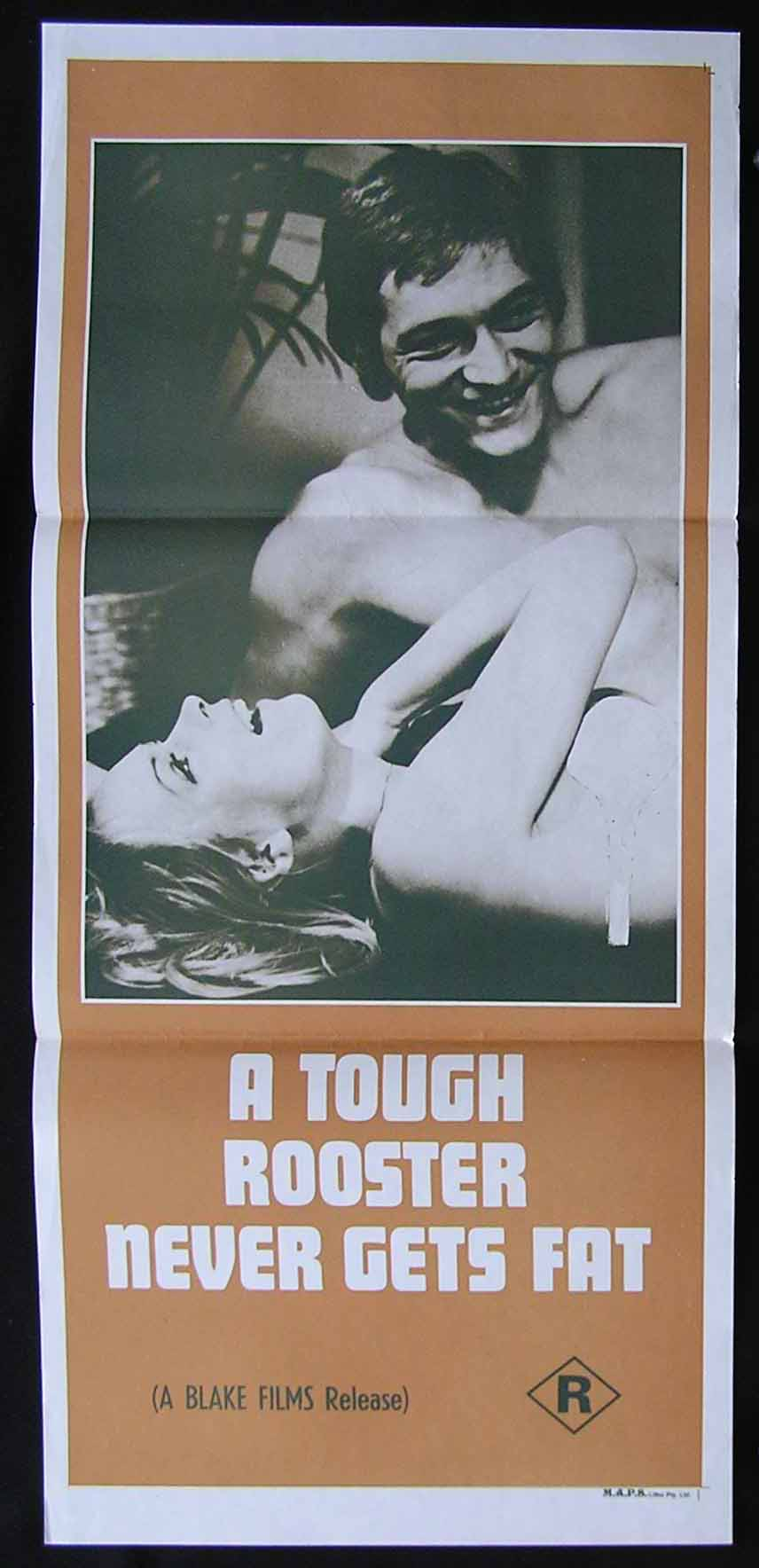 A TOUGH ROOSTER NEVER GETS FAT Daybill Movie Poster 1970 Sexploitation