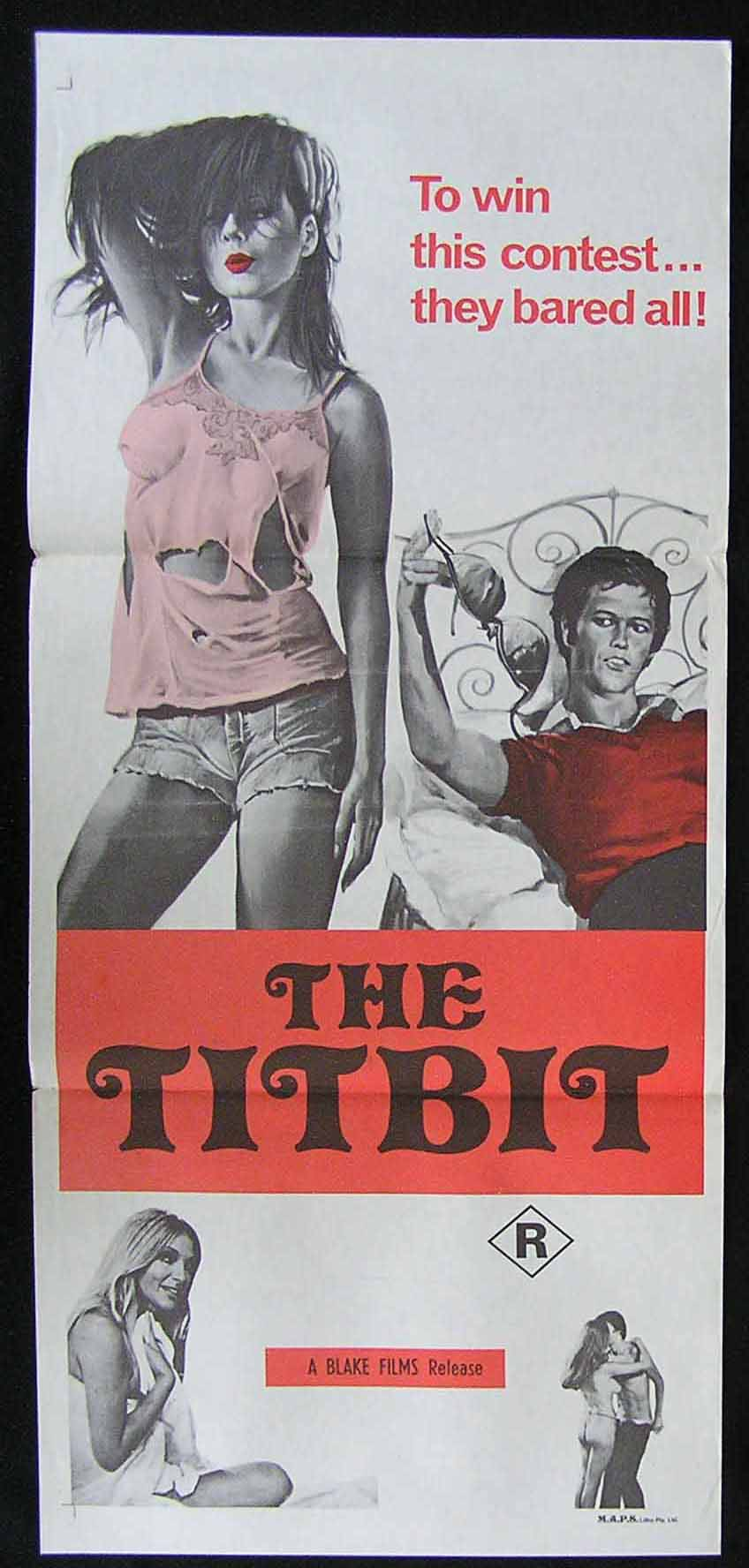THE TITBIT '70s Sexploitation Movie Poster