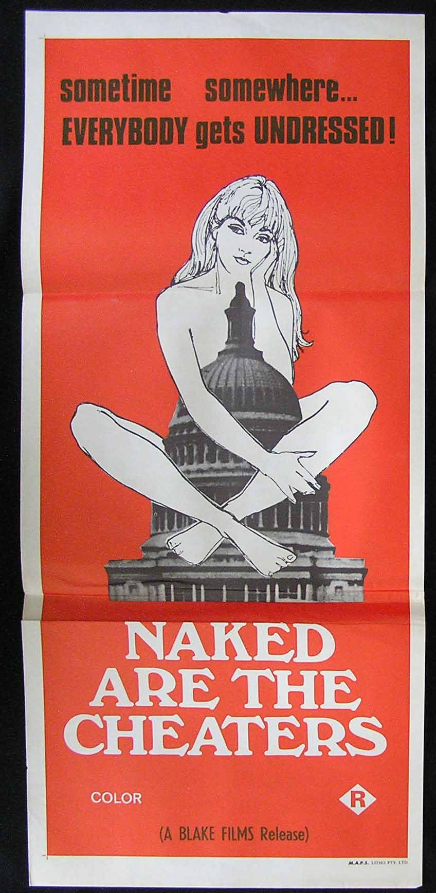 NAKED ARE THE CHEATERS '71 Angela Carnan Sexploitation Movie Poster