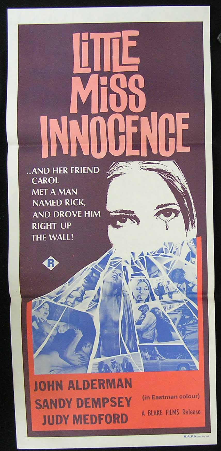 LITTLE MISS INNOCENCE '73 John Alderman Sexploitation Movie Poster