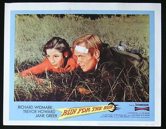 RUN FOR THE SUN '56 Richard Widmark Lobby Card #5