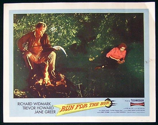RUN FOR THE SUN '56 Richard Widmark Lobby Card #8