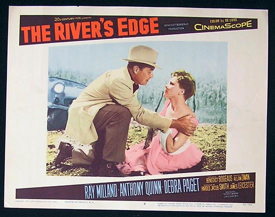 RIVER'S EDGE The '57 Ray Milland Lobby Card #4