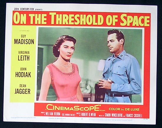 ON THE THRESHOLD OF SPACE'56 Sci Fi Lobby Card #2