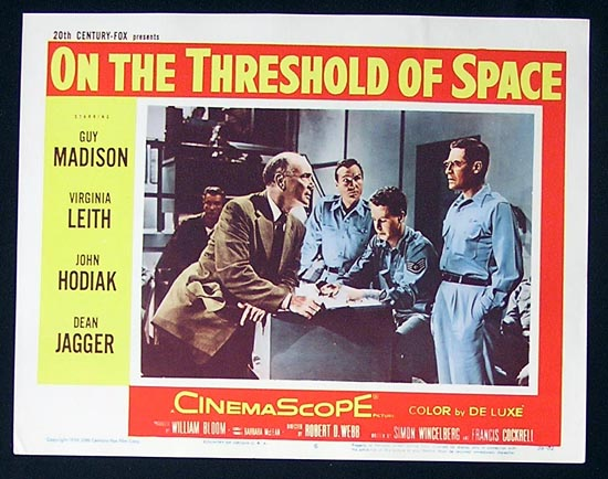 ON THE THRESHOLD OF SPACE'56 Sci Fi Lobby Card #6