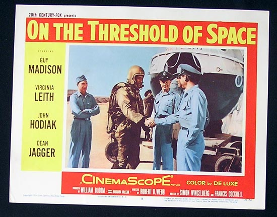 ON THE THRESHOLD OF SPACE'56 Sci Fi Lobby Card #8