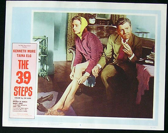 THE 39 STEPS Lobby Card 5 Kenneth More Taina Elg