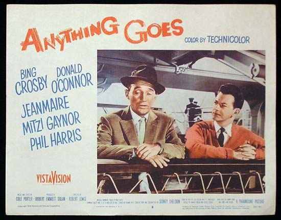 ANYTHING GOES '56 Bing Crosby Donald O'Connor US Lobby Card 8