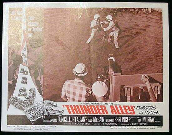 THUNDER ALLEY '67 Fabian FUNICELLO Lobby card #2