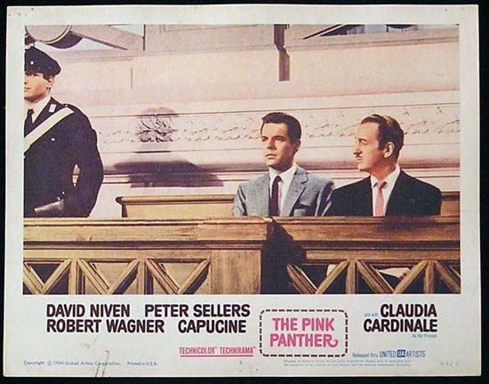 THE PINK PANTHER 1964 David Niven Robert Wagner Lobby Card 3