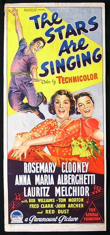 THE STARS ARE SINGING Movie Poster 1953 Rosemary Clooney Richardson Studio RARE daybill