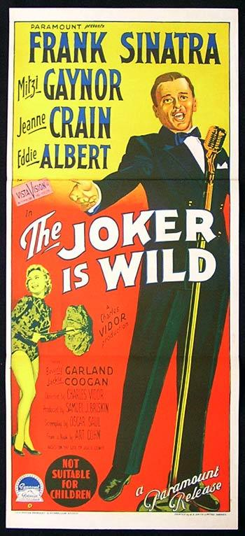 JOKER IS WILD Movie Poster 1957 Frank Sinatra Richardson Studio RARE daybill