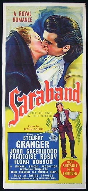 SARABAND FOR DEAD LOVERS Movie Poster 1948 Stewart Granger ORIGINAL EALING Australian Daybill