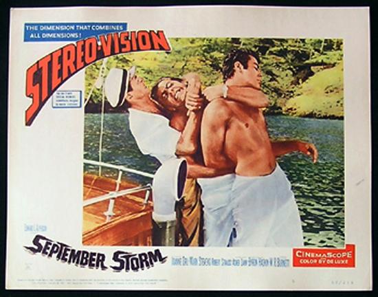 SEPTEMBER STORM Lobby Card 5 1960 Underwater Skin Diving JOANNE DRU