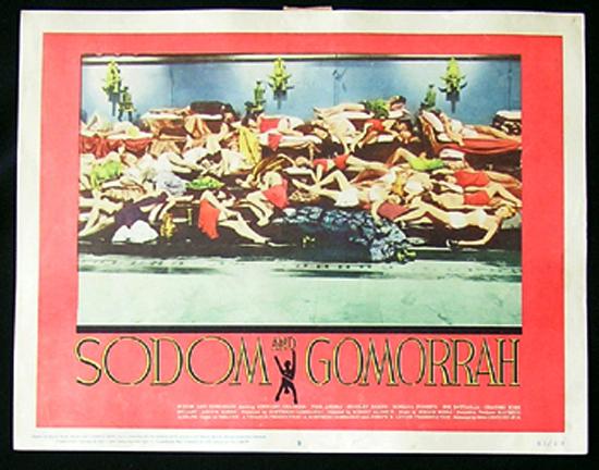 SODOM AND GOMORRAH Lobby Card 5 1963 Stewart Granger