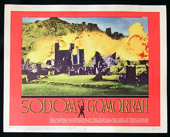 SODOM AND GOMORRAH Lobby Card 8 1963 Stewart Granger