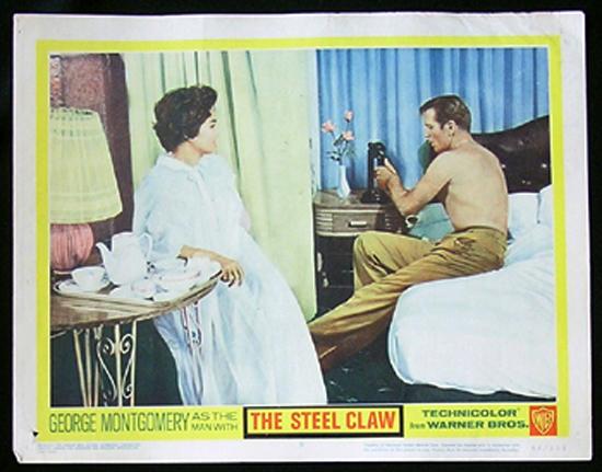 STEEL CLAW Lobby card 8 George Montgomery Phillippines WWII Film
