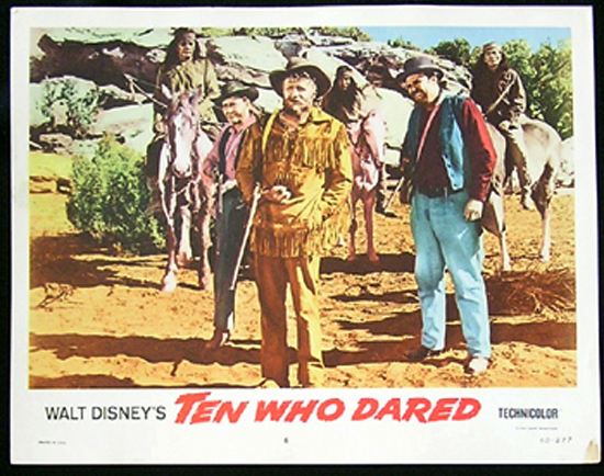 TEN WHO DARED Lobby card 6 James Drury Brian Keith