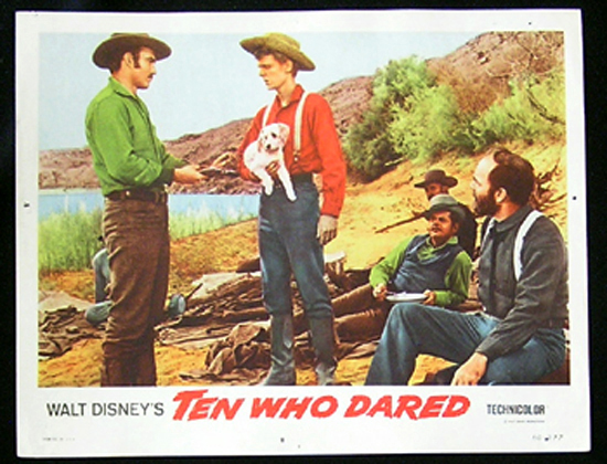 TEN WHO DARED Lobby card 8 James Drury Brian Keith